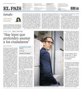 El Pais article on Los Verdes Somos Los Nuevos Rojos by Will Potter