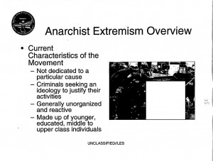 FBI training documents on anarchists