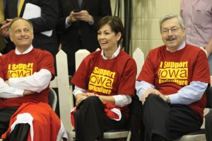 Iowa Governor Terry Branstad and U.S. Rep. Steve King, ALEC members and Ag Gag supporters.