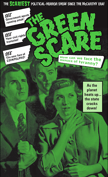 Green Scare flier by Eberhardt Press.