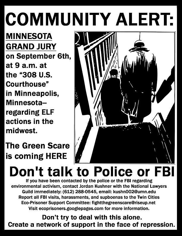 Green Scare MN Grand Jury
