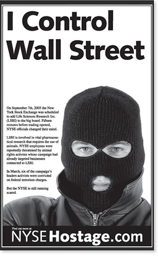 Anonymous scare-mongering ads.