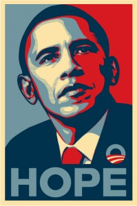 Obama poster, will he oppose eco-terrorism scare-mongering.