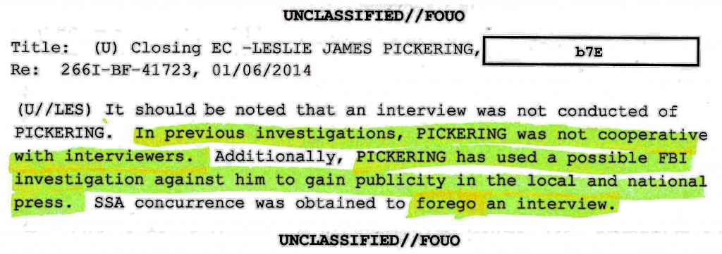 pickering-fbi-forego-interview