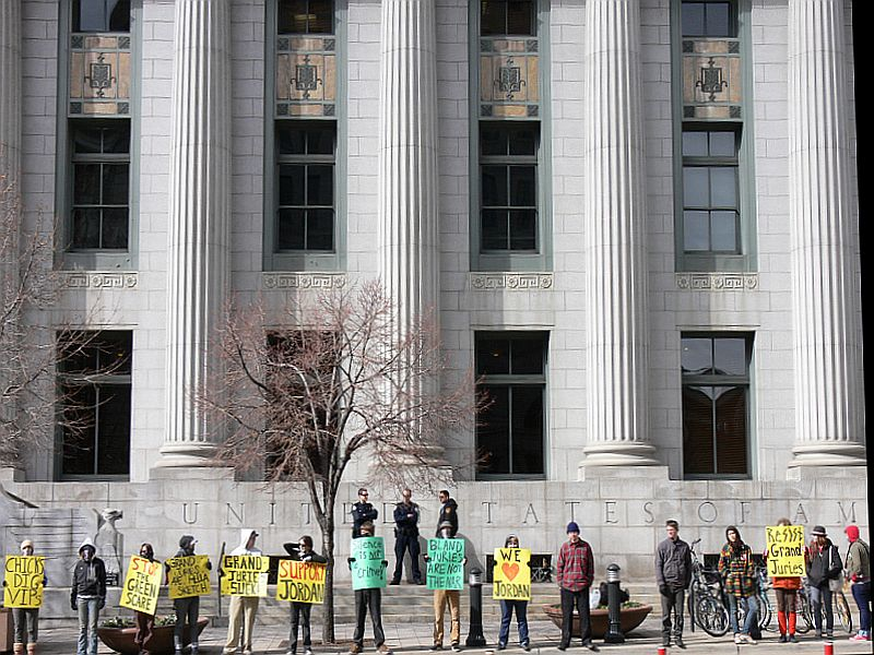 Activists protest grand jury in Utah investigating the Animal Liberation Front.