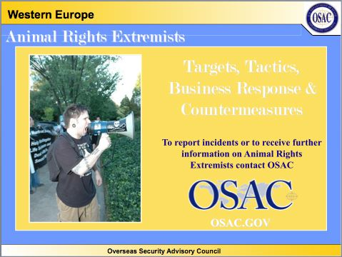 State Department PowerPoint on Animal Rights Activism