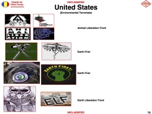 US Army terrorist logo guide lists environmental groups
