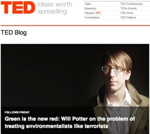 TED interviews Will Potter about eco-terrorism and animal rights protesters